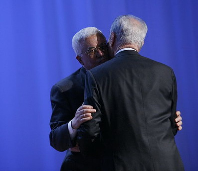 Peres and Abbas at the World Economic Forum