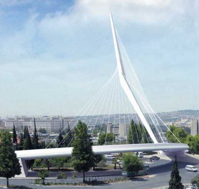 Jerusalem Chords Bridge at Daytime