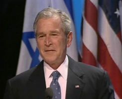 Bush in Knesset