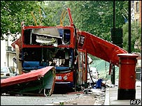 Bus Blast in London July 2005