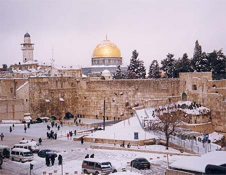 Snow in Jerusalem 2008