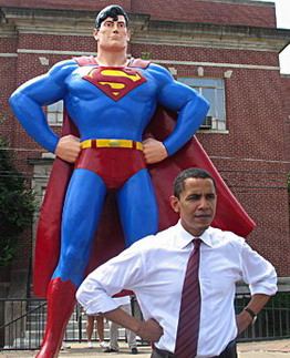 Obama plays Superman