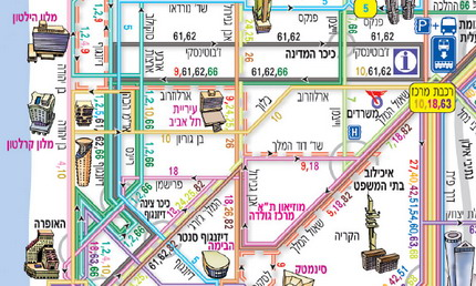 Dan Tel Aviv Bus Routes