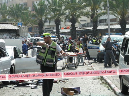 Suicide bombing in Tel AViv