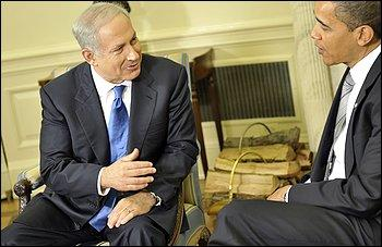 Bibi meeting Obama - check out the body language..