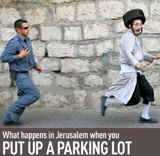 Haredim parking lot