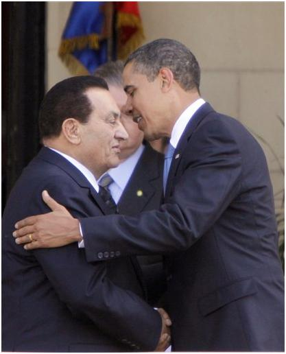 Obama With Mubarak In Egypt