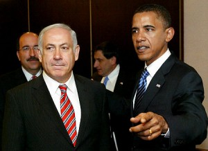 Bibi Netanyahu and Barack Obama