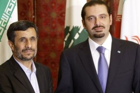 Ahmadinejad and Hariri
