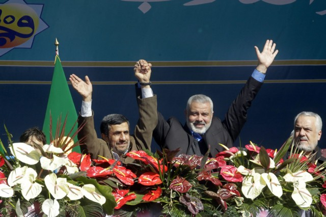 Haniyeh and Ahmadinejad in Iran
