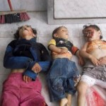 Bodies of children lying at a hospital morgue - Houla Syria