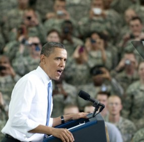 Obama Visits Troops in Kabul