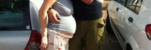 Saying goodbye to husband at 9 months Pregnant - Israel 2012